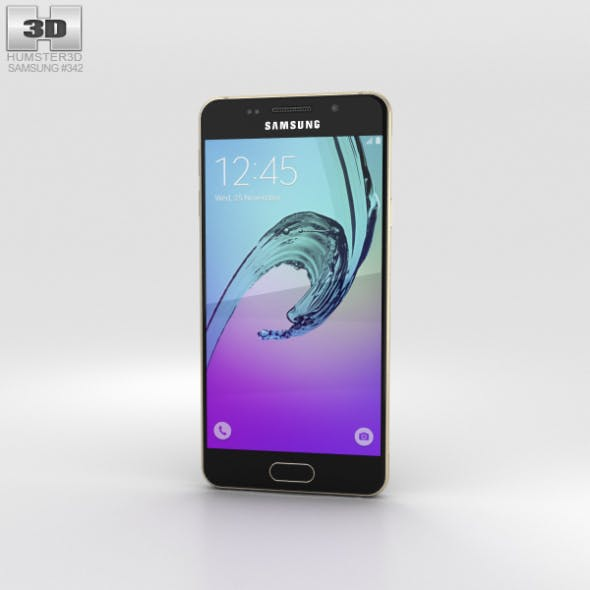Samsung Galaxy A3 (2016) Gold - 3DOcean Item for Sale