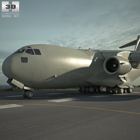 Boeing C-17 Globemaster III - 3DOcean Item for Sale
