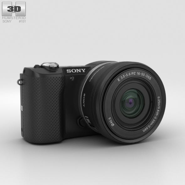 Sony Alpha A5000 Black - 3DOcean Item for Sale