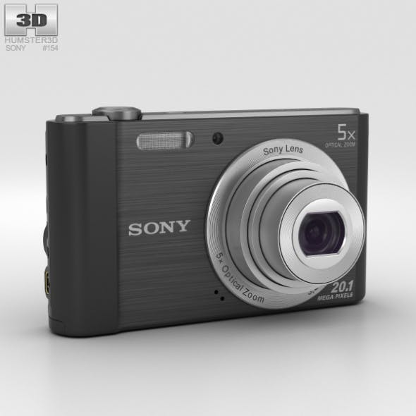Sony Cyber-shot DSC-W800 Black - 3DOcean Item for Sale