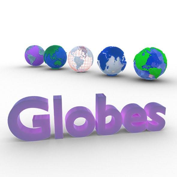 Globes - 3DOcean Item for Sale
