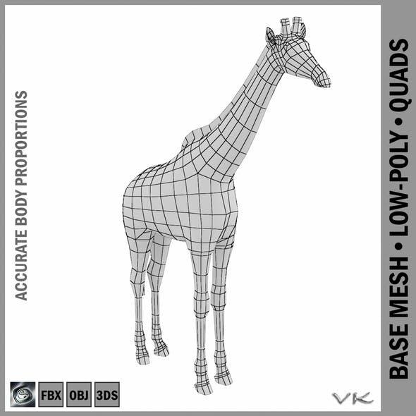 Giraffe Animal Base Mesh - 3DOcean Item for Sale