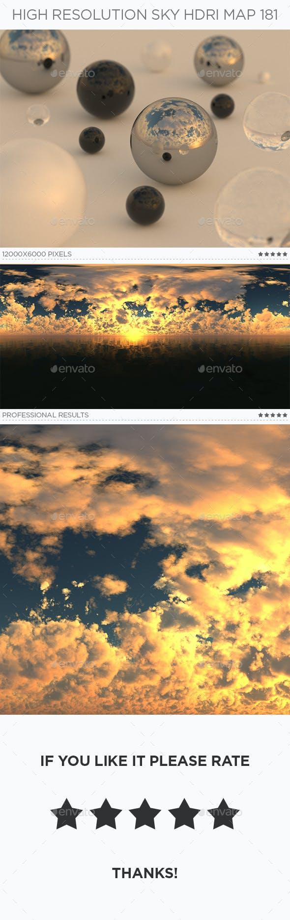 High Resolution Sky HDRi Map 181 - 3DOcean Item for Sale