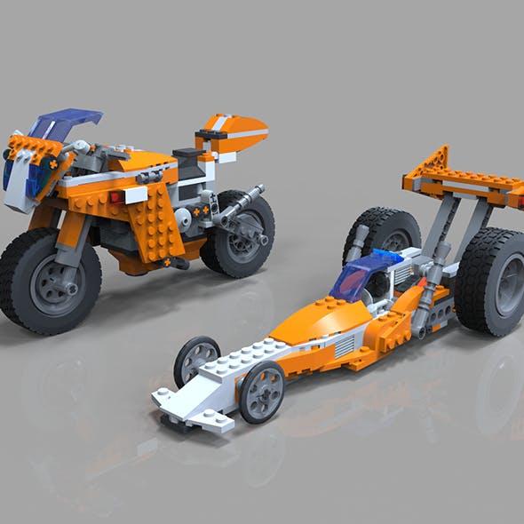 Lego Moto Bike model