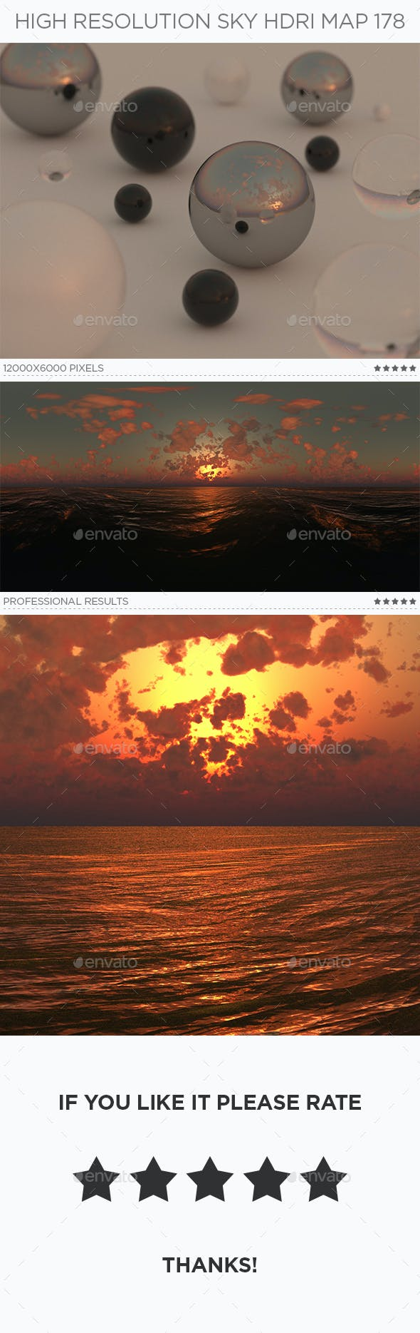 High Resolution Sky HDRi Map 178 - 3DOcean Item for Sale