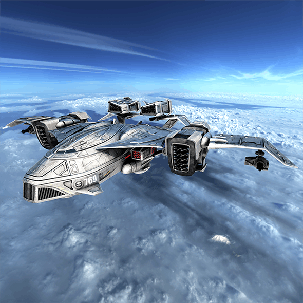 Sci-fy Dropship - 3DOcean Item for Sale