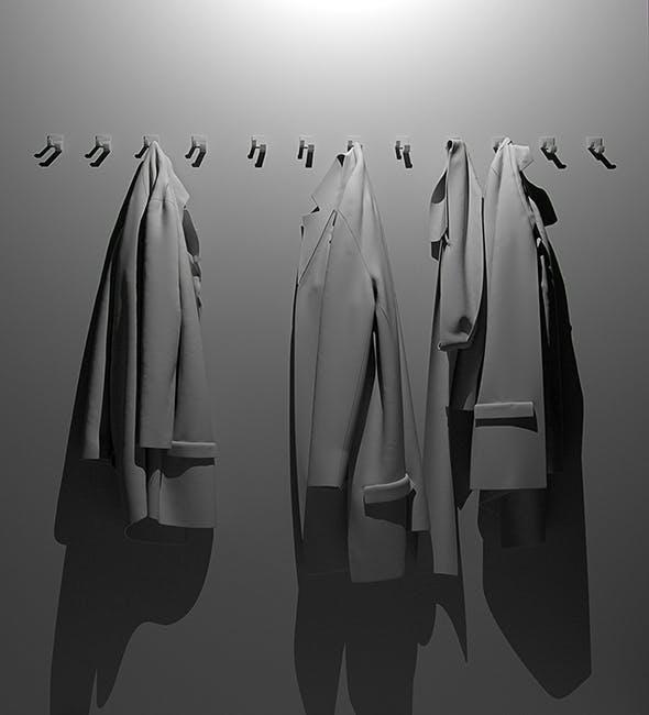 Jackets 3d model - 3DOcean Item for Sale