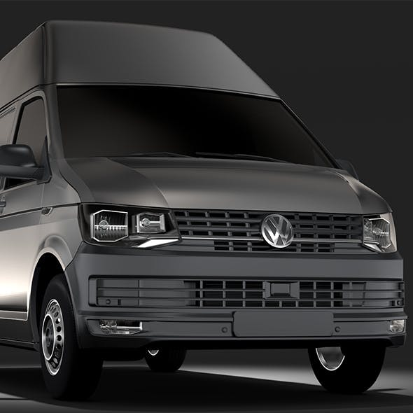 Volkswagen Transporter Van L1H3 T6 2017 - 3DOcean Item for Sale