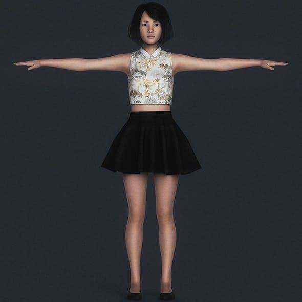 Realistic Beautiful Teen Girl