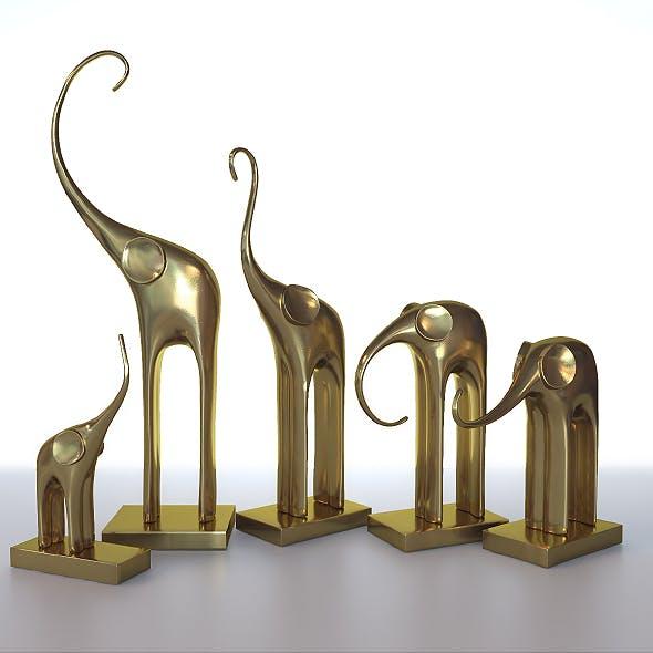 Figurines five elephants