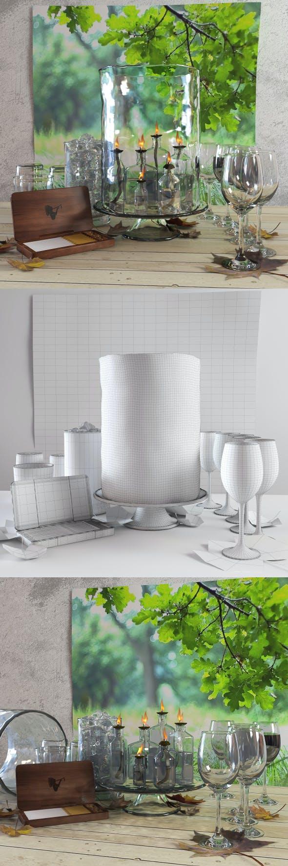 Decorative set 1 - 3DOcean Item for Sale