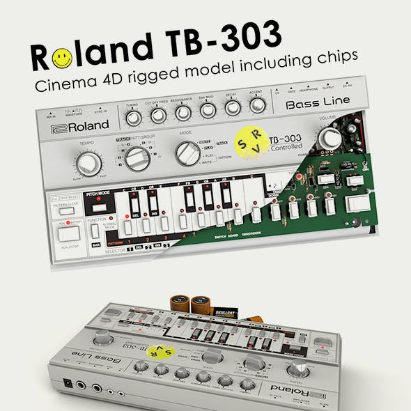Roland TB-303 Rigged