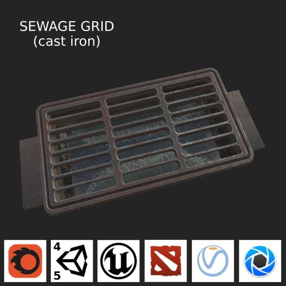 Sewage grate LOW PBR