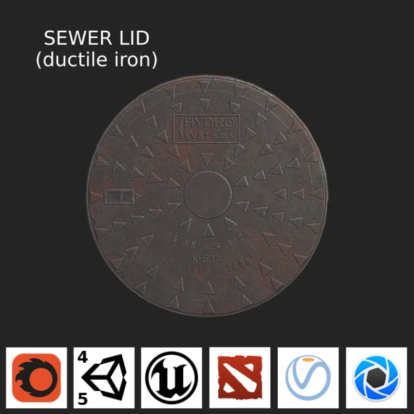 Sewer Lid (ductile iron) LOW - 3DOcean Item for Sale