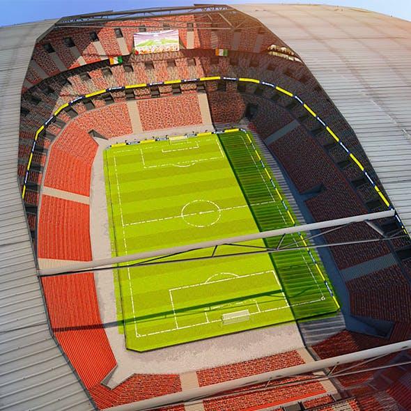 Football Soccer stadium game ready 3d model - 3DOcean Item for Sale