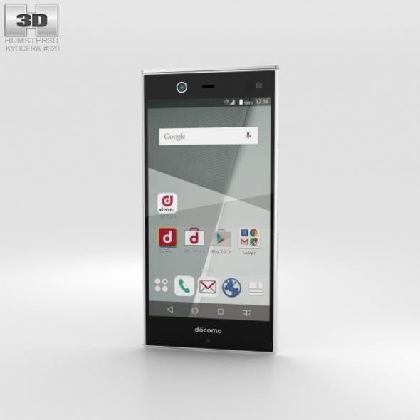 Fujitsu Arrows NX F-02H White - 3DOcean Item for Sale