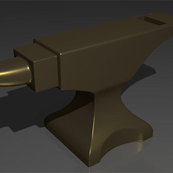 Anvil - low poly game model