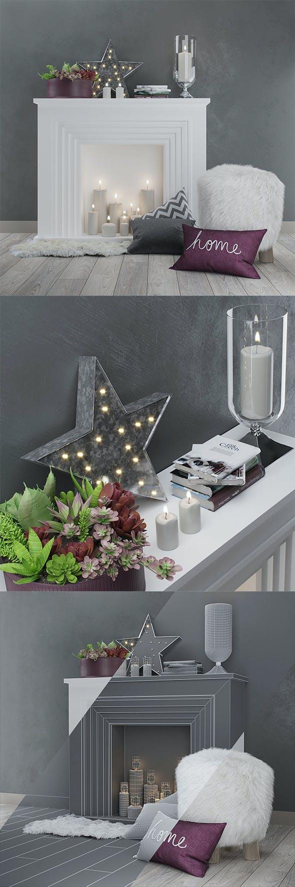 Decor set - 3DOcean Item for Sale