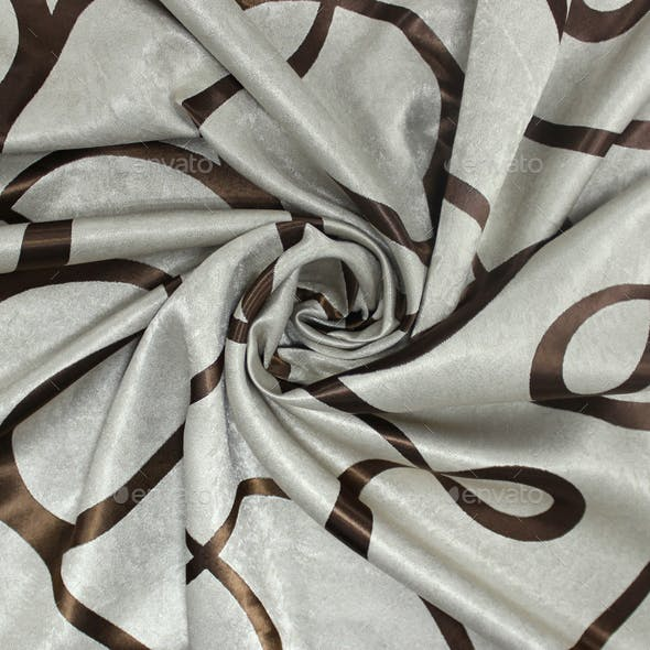 Fabric Seamless Texture drapes (modern style gray and brown)