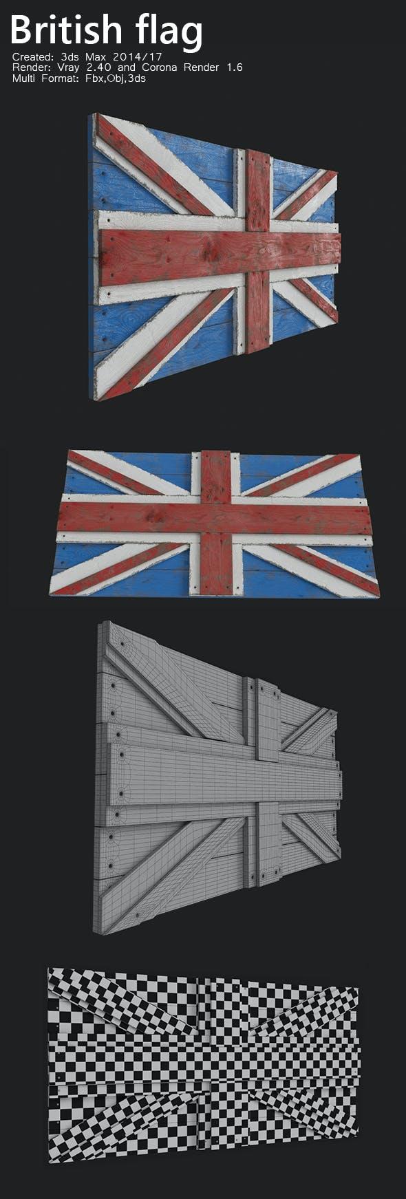 British flag - 3DOcean Item for Sale