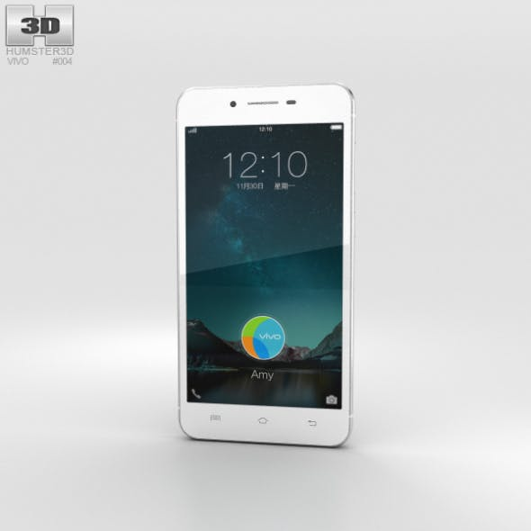 Vivo X6 Silver - 3DOcean Item for Sale