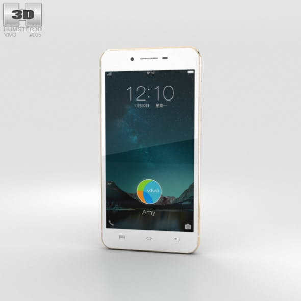Vivo X6 Gold - 3DOcean Item for Sale