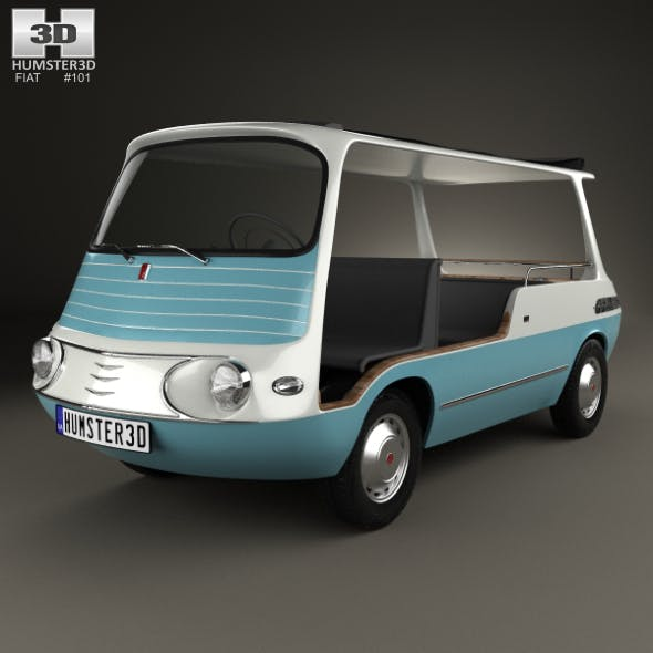 Fiat 600 Multipla Marinella 1958 - 3DOcean Item for Sale