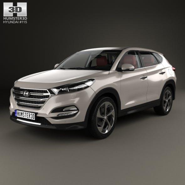 Hyundai Tucson with HQ interior 2016 - 3DOcean Item for Sale