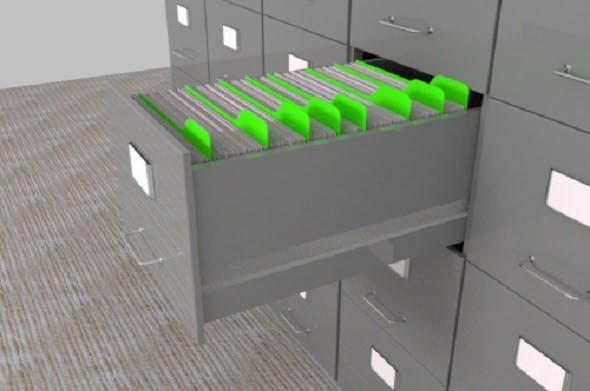 Filing Cabinet - 3DOcean Item for Sale