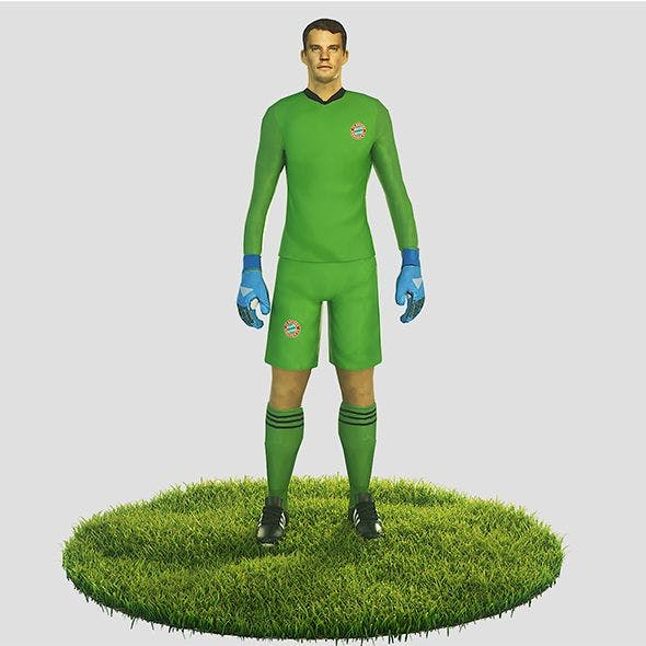 Manuel Neuer goalkeeper football player - 3DOcean Item for Sale
