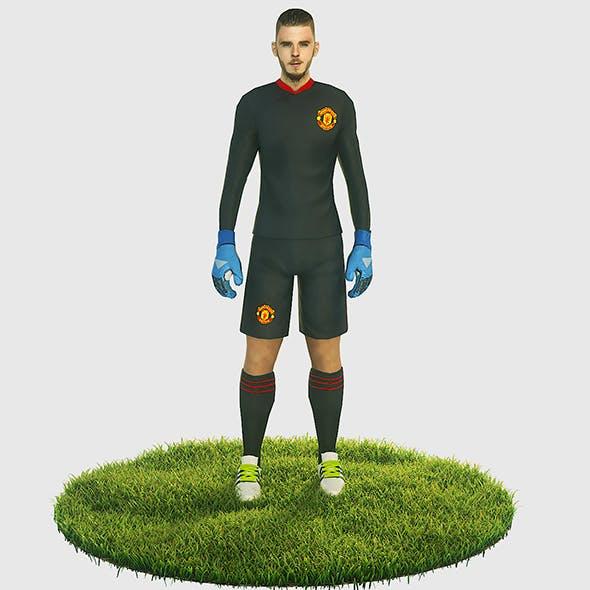 De Gea goalkeeper football player - 3DOcean Item for Sale