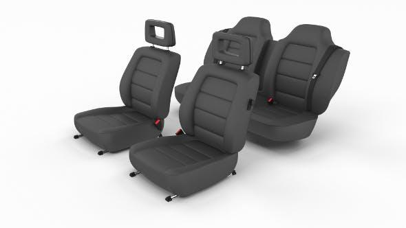 Generic Black Leather Car Seats - 3DOcean Item for Sale