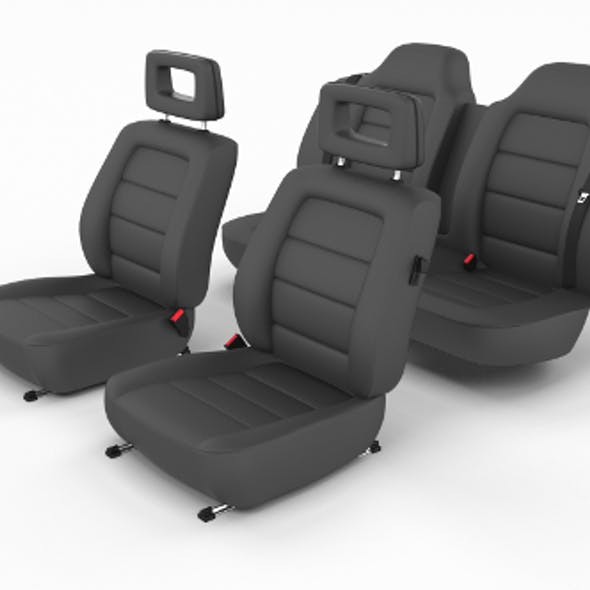 Generic Black Leather Car Seats