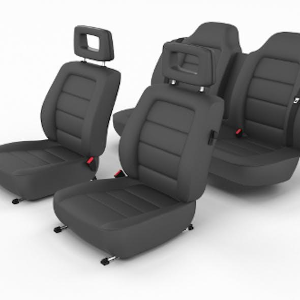 Generic Black Leather Car Seats