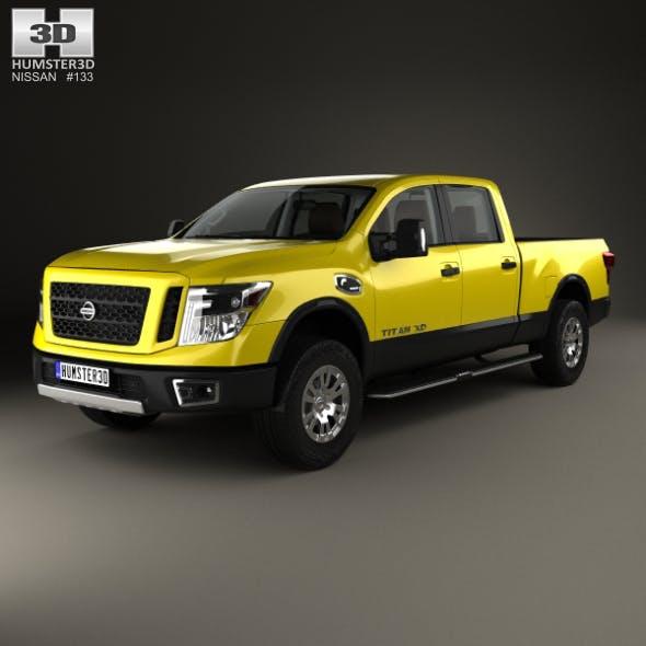 Nissan Titan Crew Cab XD Pro 4X with HQ interior 2016 - 3DOcean Item for Sale