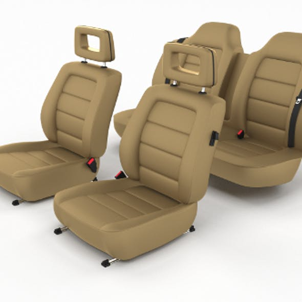 Generic Brown Leather Car Seats