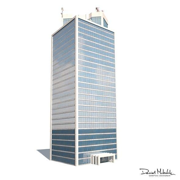 Skyscraper #12 Low Poly 3d Model - 3DOcean Item for Sale