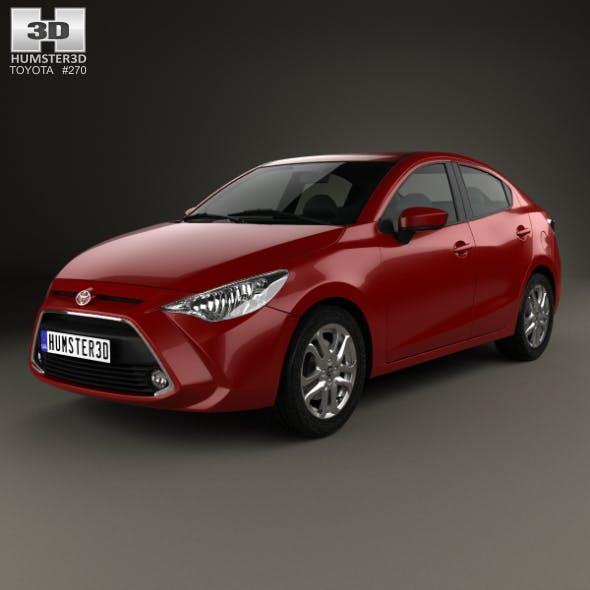 Toyota Yaris (CA) sedan 2015 - 3DOcean Item for Sale