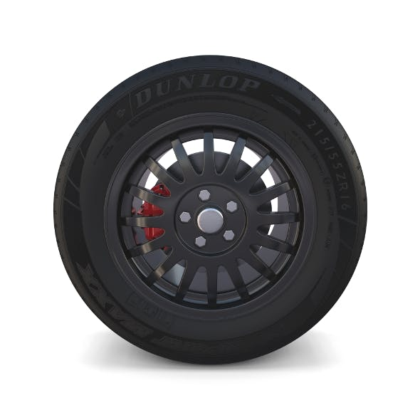 Generic Dark Alloy Wheel and Brake - 3DOcean Item for Sale
