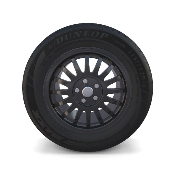 Generic Dark Alloy Wheel - 3DOcean Item for Sale