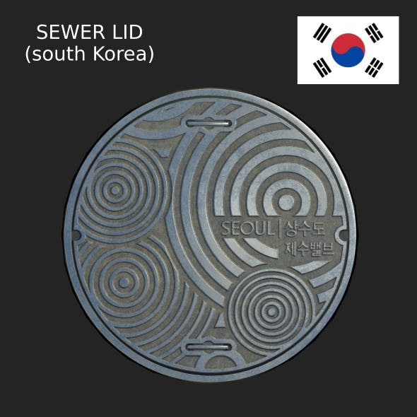 South Korea sewer lid LOW - 3DOcean Item for Sale