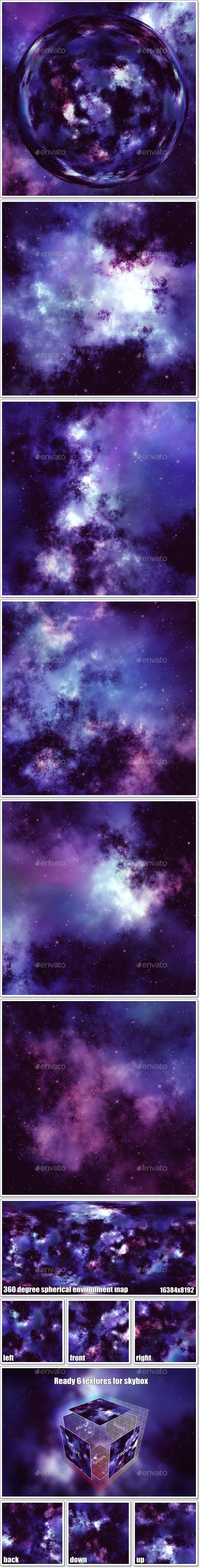 Nebula Space Environment HDRI Map 011 - 3DOcean Item for Sale