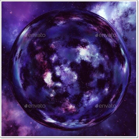 Nebula Space Environment HDRI Map 011