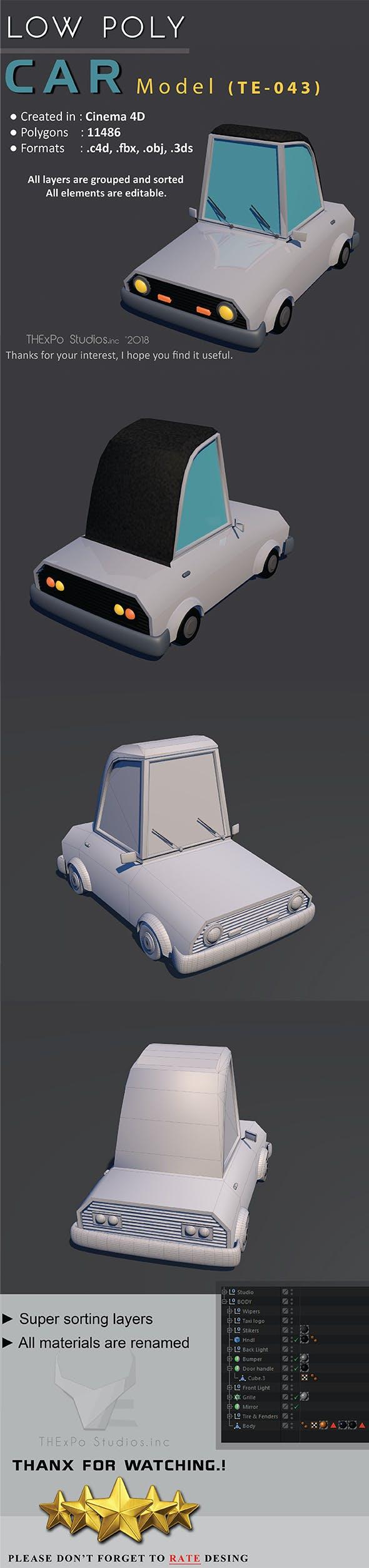 Low Poly Car || Model TE-043 - 3DOcean Item for Sale