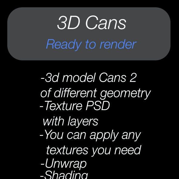 3D models cans