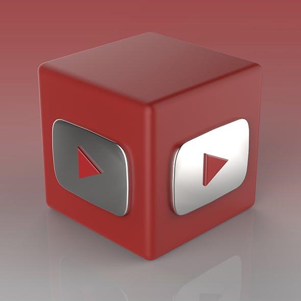 Youtube Logo - 3DOcean Item for Sale