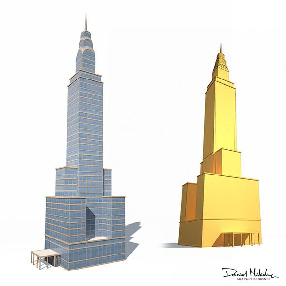 Skyscrapper 14 Low Poly