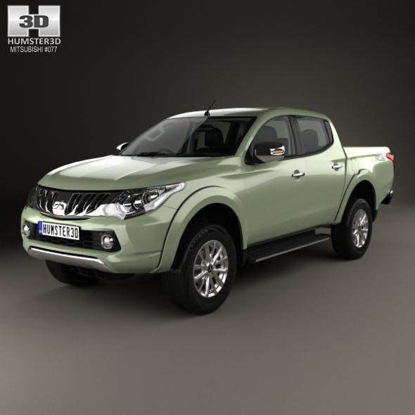 Mitsubishi Triton Double Cab with HQ interior 2015 - 3DOcean Item for Sale