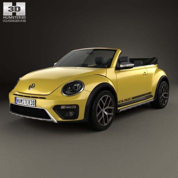 Volkswagen Beetle Dune Convertible 2016 - 3DOcean Item for Sale