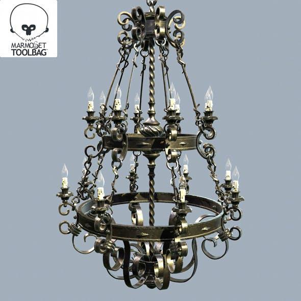Forged chandelier 3d model